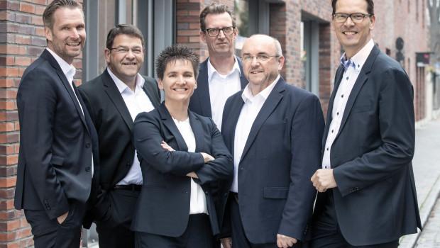 Der Hagebau-Gesellschafter Mölders erweitert seine Führungsstruktur (v. l.): Alexander Maaß, Thomas Liedloff, Cécile Meyer-Bartsch, Jens Daniel Pipereit, Erwin Lodwig und Felix Mölders.