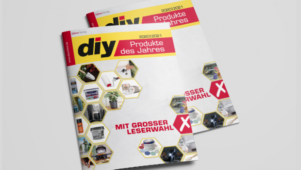 Die Sonderbeilage diy Produkte des Jahres 2020/2021 ist mit dem Dezember-Heft des Fachmagazins diy erschienen.