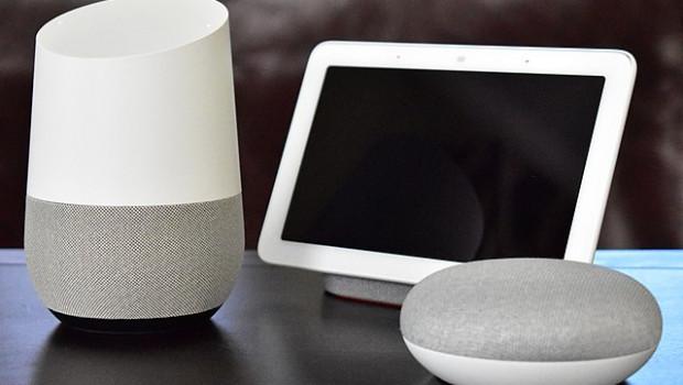 Typische Google-Nest-Produkte werden in einem New Yorker Home Depot digital neu präsentiert.