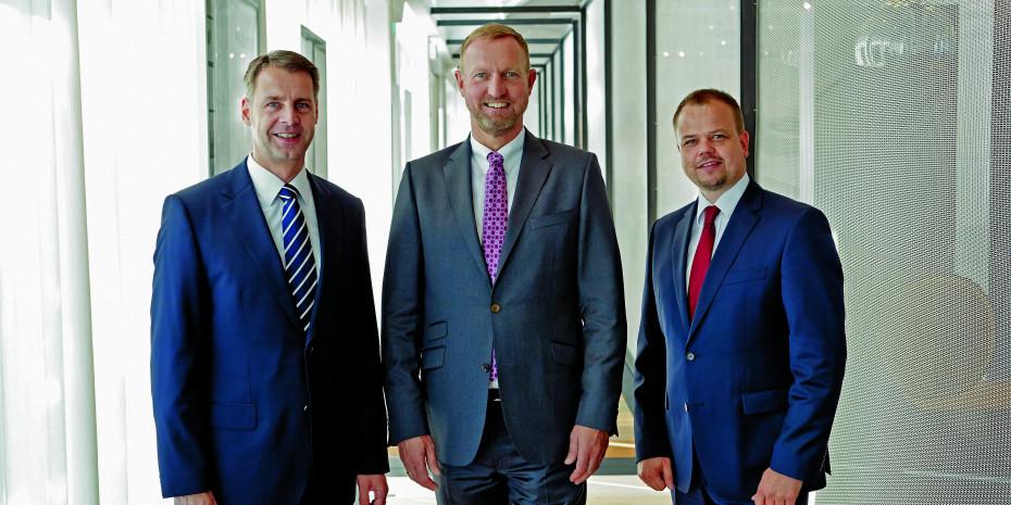 Parador-Führungstrio v. l.: Dirk Nowak, Lubert Winnecken, und Hendrik Voß