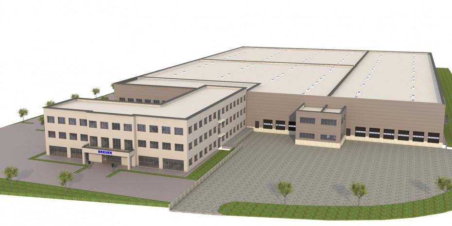 Der DuschkabinenspezialistBreuer will sich mit einem großen Verwaltungs- und Produktionsneubau für die Zukunft fit machen.