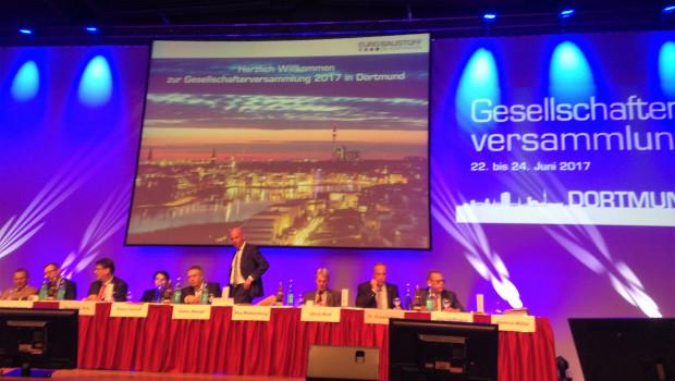 Auf der Gesellschafterversammlung der Eurobaustoff heute in Dortmund sind 90,5 Prozent des Kapitals vertreten.