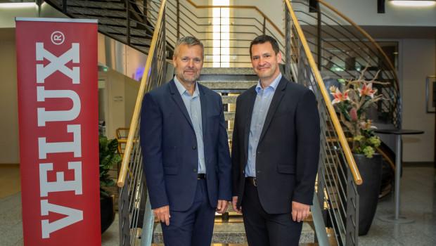 Jacob Madsen (links) wird neuer Geschäftsführer von Velux Deutschland. Felix Egger widmet sich wieder seinen Aufgaben als Geschäftsführer der Velux Schweiz AG.