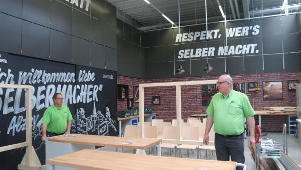 """Vorbereitungen für die Heimwerker: In Alzey erprobt Toom Baumarkt eine sogenannte """"Ertüchtigungswerkstatt""""."""