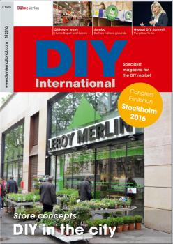 Die aktuelle Ausgabe von DIY International beschäftigt sich in einem ausführlichen Schwerpunkt mit Verkaufsflächenformaten für urbane Zielgruppen.