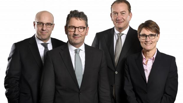 Der neue Vorstand der EK-Servicegroup seit dem 1. Januar 2017: Martin Richrath, Franz-Josef Hasebrink, Steve Evers und Susanne Sorg.