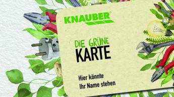 Neue nachhaltige Kundenkarte bei Knauber
