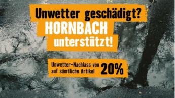 Auch bei Hornbach gibt es 20 Prozent Nachlass