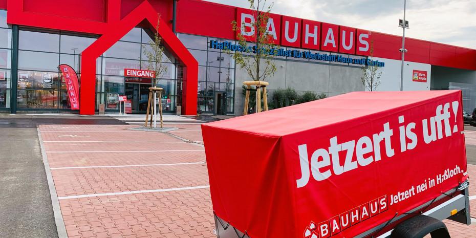 Allagut: In Haßloch werden die Bauhaus-Kunden auf Pfälzisch begrüßt.