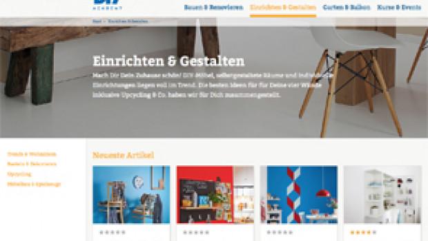Die Website der DIY Academy wurde komplett überarbeitet.