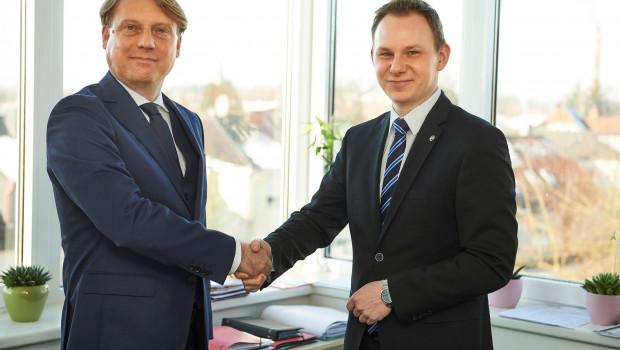 Dennis Langer (r.) verantwortet seit Januar den Bereich Interne IT der Hagebau IT. Andreas Dietrich soll sich auf seine Aufgaben als Geschäftsführer konzentrieren.
