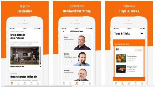 Beratung durch Handwerker gibt es jetzt bei Obi kostenfrei direkt per App.