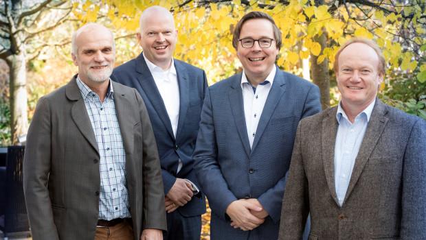 Der neue IVG-Vorstand (v. l.): Lothar Idelberger, Christoph Büscher, Oliver Trappmann und Richard Petri.