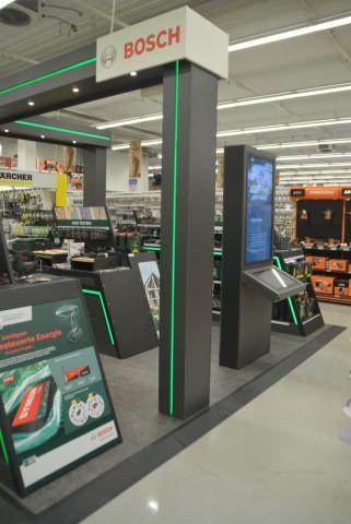 Ein Beispiel: So sieht die Bosch Experience Zone auf der Fläche aus.