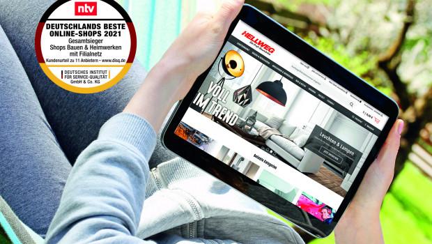 Der beste Onlineshop der deutschen stationären Baumarktbetreiber ist laut Deutsches Institut für Service-Qualität Hellweg.de.