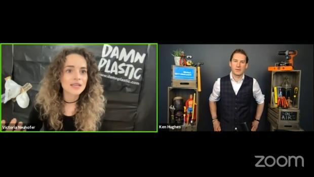 Victoria Neuhofer hat im Global DIY-Network im Gespräch mit Ken Hughes ihr Konzept für einen plastikfreien und Zero-Waste-Konsum erläutert.
