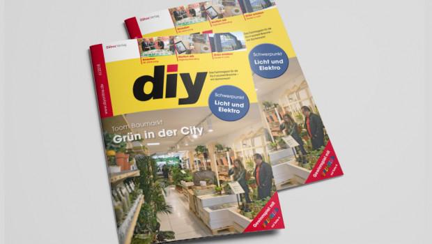 Die Titelgeschichte von diy 6/2018 dreht sich um den neuen Pop-up-Store von Toom in Köln.