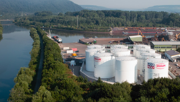 Das Tanklager im Saarhafen. In unmittelbarer Nähe wollte Meguin ein Zentrallager und 50 neue Arbeitsplätze schaffen.