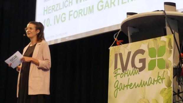 Gerne möchte IVG-Geschäftsführerin Anna Hackstein die Teilnehmer des IVG-Forums Gartenmarkt im November wieder live vor Ort begrüßen.
