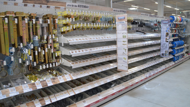 Der Einzelhandel mit Metallwaren, Anstrichmitteln, Bau- und Heimwerkerbedarf hat das zweite Quartal mit einem Umsatzrückgang von 0,9 Prozent abgeschlossen.