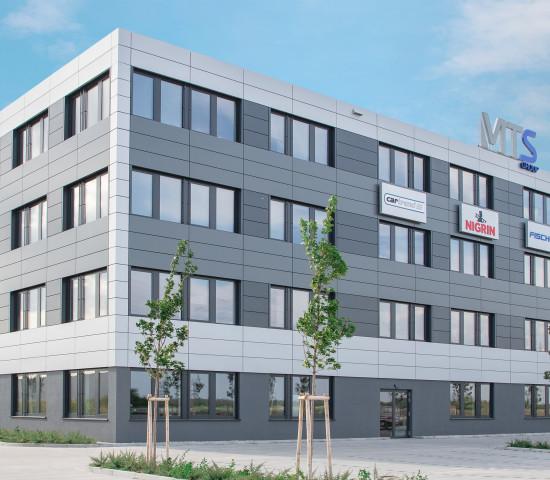Außenansicht der neuen Firmenzentrale.  [Bild: MTS Group]