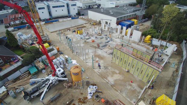 Das Kompetenzzentrum Bauten- und Bodenschutz befindet sich bereits im Rohbau.