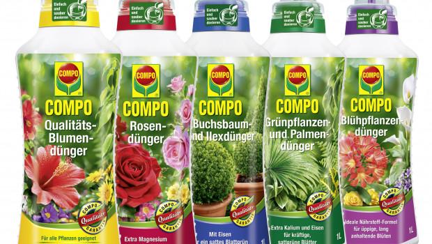 Compo bietet seine Flüssigdünger künftig in Behältern aus Recyclaten an.