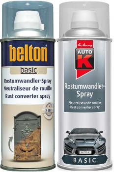belton und Auto-K Rostumwandler-Sprays