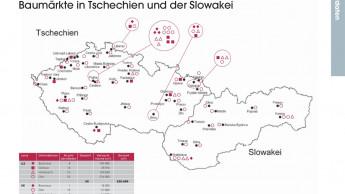 Baumärkte in Tschechien und der Slowakei