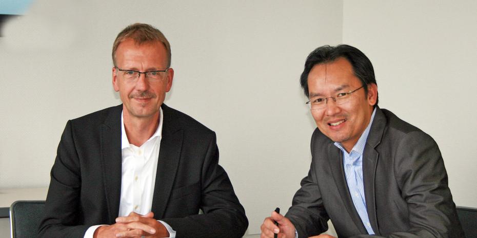 Mehr Mut bei der Listung von Neuprodukten wünschen sich Stephan Cochanski und Allan Ongkowasito, Geschäftsführer der Gutkes GmbH.