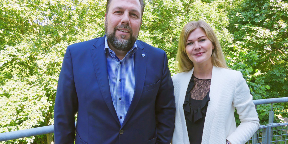 Nespoli-Geschäftsführer Bert Bergfeld, Marketingleiterin Andrea Fischer.