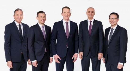 Der Vorstand besteht nun aus (von links) Robert Erni, Alexander Tonn, Burkhard Eling, Edoardo Podestà und Stefan Hohm.