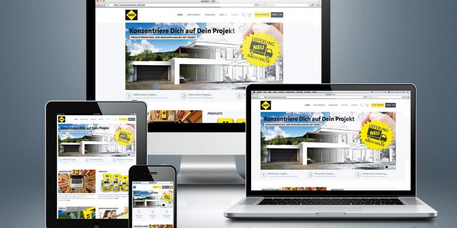 Die neue Heimwerker-Website von Sakret.