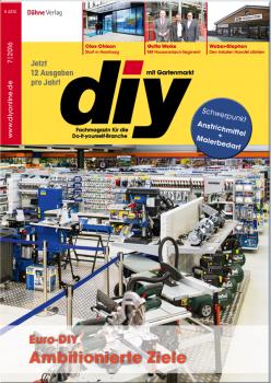 Die aktuelle Ausgabe des diy-Fachmagazins ist gerade erschienen.