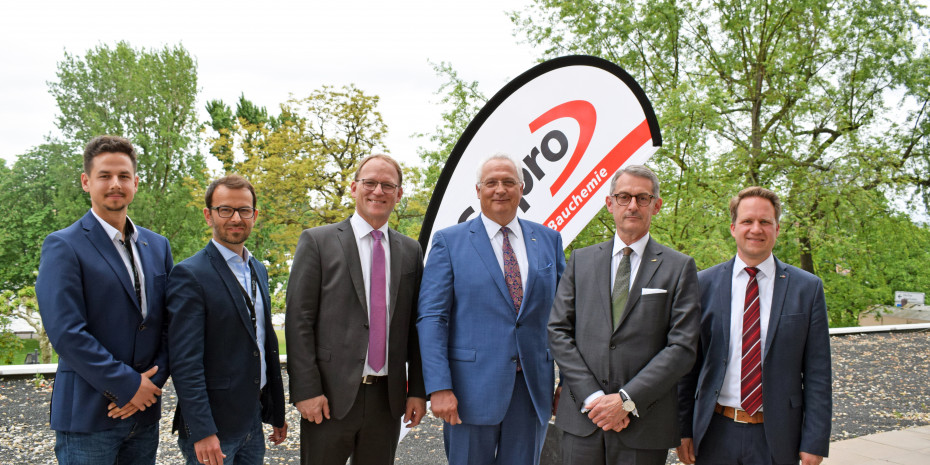 Sopro, von links: Lennard Stöcklin, Robert Wagner, Mario Sommer, Geschäftsführer Andreas Wilbrand, Geschäftsführer Michael Hecker, Björn Rosenau