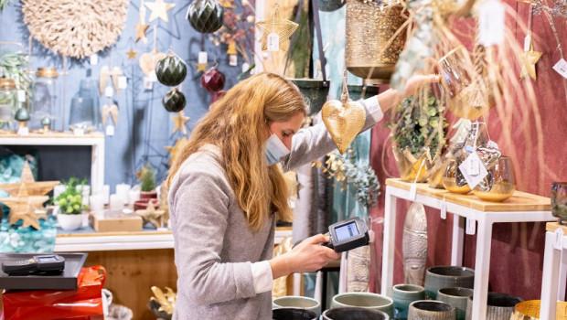 Auf der Importmesse Herbst/Winter der Sagaflor in Kassel galten strenge Hygienevorschriften.