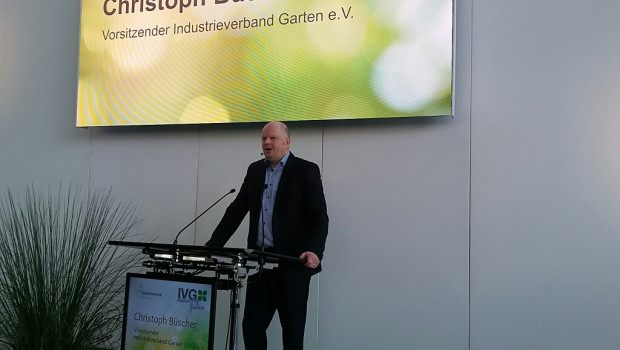 """Christoph Büscher, IVG-Vorsitzender, sprach in seiner Begrüßung von einem """"positiven Trend in der Branche""""."""