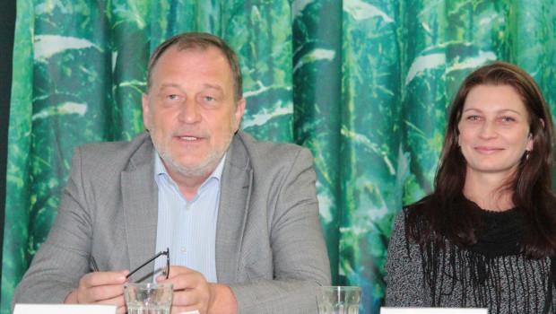 Bellaflora-Geschäftsführer Alois Wichtl und Isabella Hollerer, Leitung Nachhaltige Entwicklung