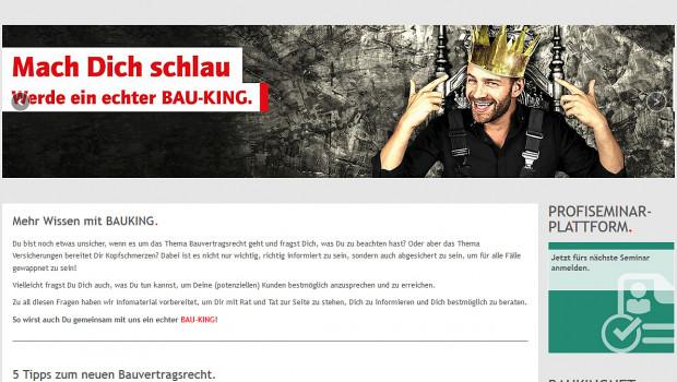 Die Bauking AG hat eine Online-Kampagne für werkstattlose Handwerker gestartet.