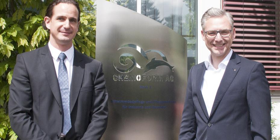 Geschäftsführer von Waterman und Heissner, Cedrik Mayer-Klenk (l.) und Rolf E. Papenheim
