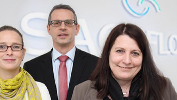 Die Neuen bei Sagaflor (v. l.): Claudia Plöger, Martin Schweikert, Miriam. Werner.