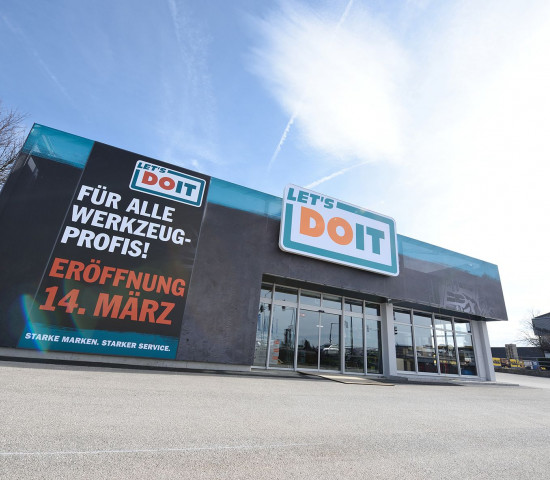 Der Werkzeugmarkt mit dem neuen Store-Konzept steht in Wels.