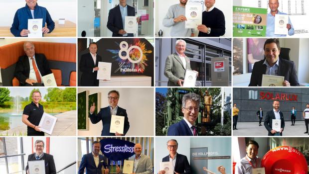 """16 aus 123 Gewinnern des """"Deutschlands beliebteste Anbieter Life & Living Award 2020""""."""