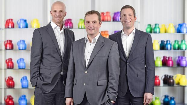 Die Emsa-Geschäfstführer (v. l.) Max Harrysson, Dr. Klaus Flacke und Sebastian Moebus.