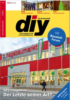 Die HEV-Märkte in München sind Thema der Titelgeschichte in der aktuellen Ausgabe des Fachmagazins diy.