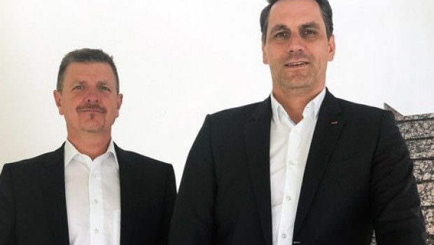 Der Vertrieb von Al-Ko Gardentech stellt sich neu auf (v. l):. Gernot Trippold wird neuer Export- und Thomas Hoffmann neuer Vertriebsleiter.