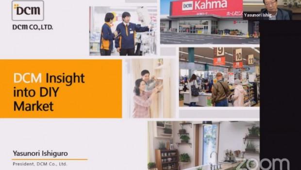 """Im Mittelpunkt des heutigen """"Meet the CEO"""" des Global DIY-Network 2020/21 stand die japanische DCM-Gruppe mit seinem CEO Yasunori Ishiguro."""