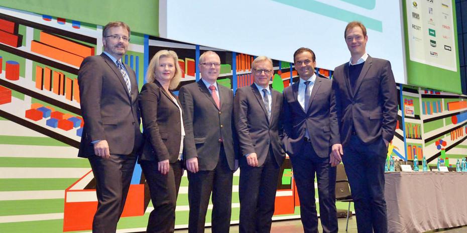 Der neue Vorstand des BHB (v. l.): Dr. Peter Wüst, Susanne Jäger, Dr. Ralf Bartsch, Detlef Riesche, Kai Kächelein und Alexander Kremer.