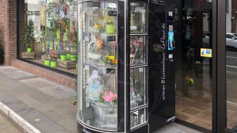 Frische Blumen aus dem Automaten
