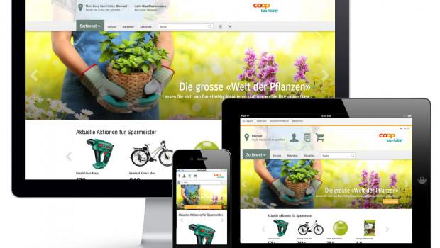 Ist fertig: der Onlineshop von Coop Bau+Hobby in der Schweiz.